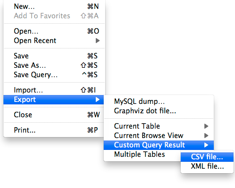 Export your query result to a CSV file